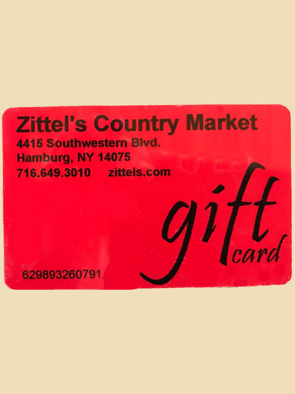 Zittels Country Gift Card
